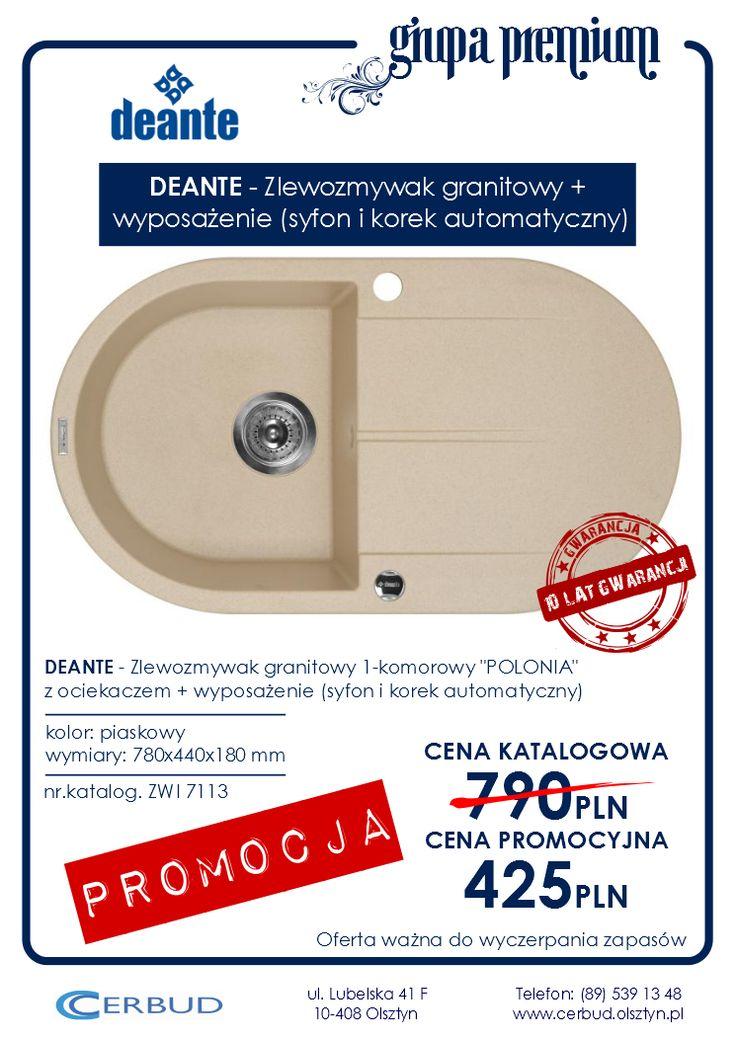 DEANTE - Zlewozmywak granitowy 1-komorowy POLONIA