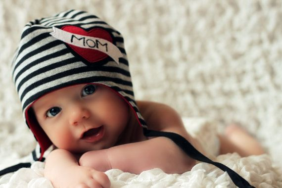 MOM heart beanie for baby