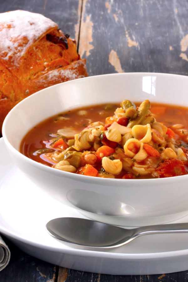 A classic Italian vegetable soup with your favorite seasonal veggies and a tasty drizzle of pesto. The perfect recipe to keep out the cold--hearty and warm.