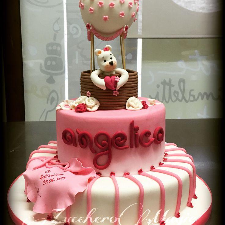 Baptism pink cake