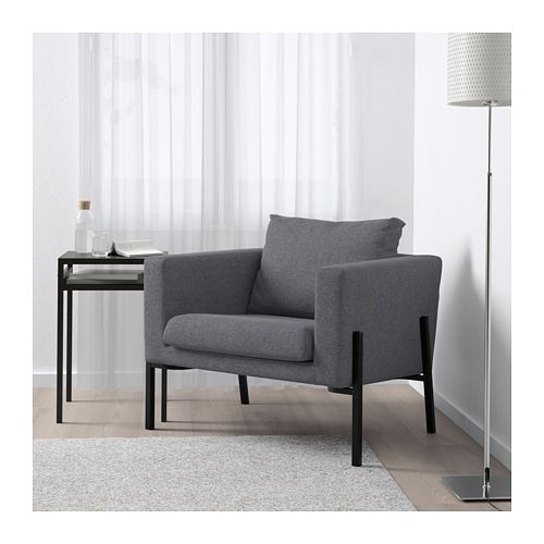 KOARP Armchair, Gunnared medium gray, black Gunnared medium gray black