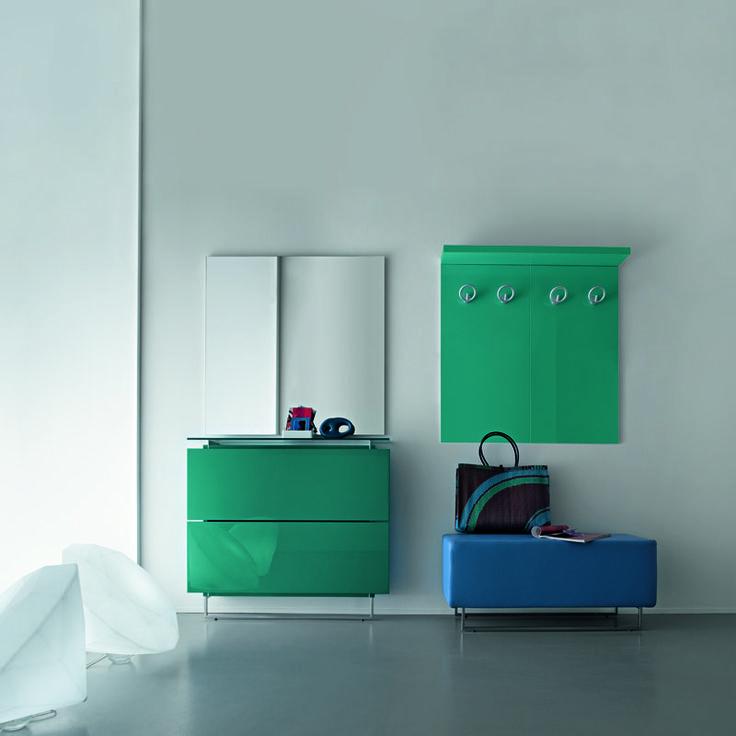 Contemporary Italian mirror shoe cabinet at My Italian Living Ltd