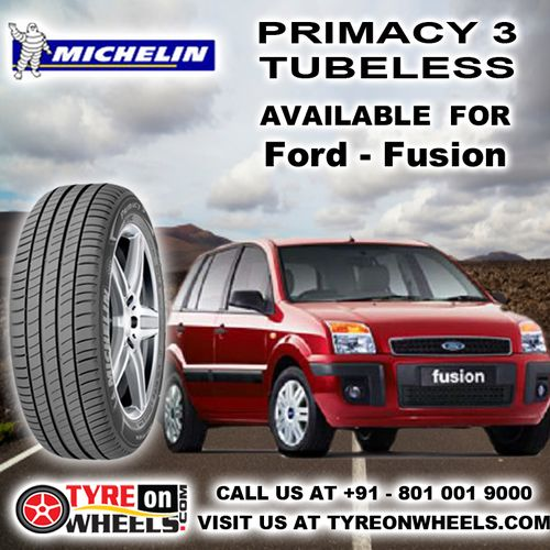 Buy Ford Fusion Car Tyres Online of Michelin Primacy 3 Tubeless Tyres and get fitted with Mobile Tyre Fitting Vans at your doorstep at Guaranteed Low Prices buy now at http://www.tyreonwheels.com/tyres/Michelin/PRIMACY-3/1321