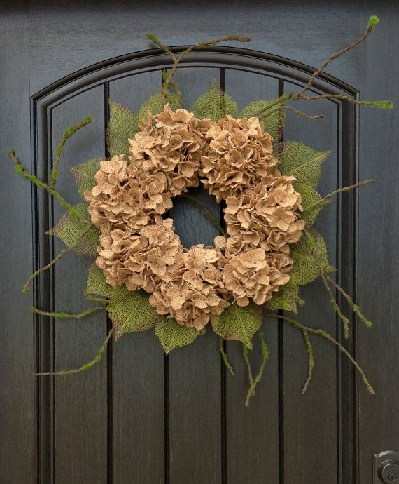 "Fall Krans herfst Rustieke Deur Decor .. ""Jute Sensation"""