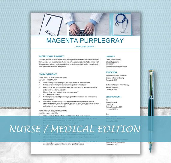 Medical Resume Template  Resume Writing Tips  Nurse Resume