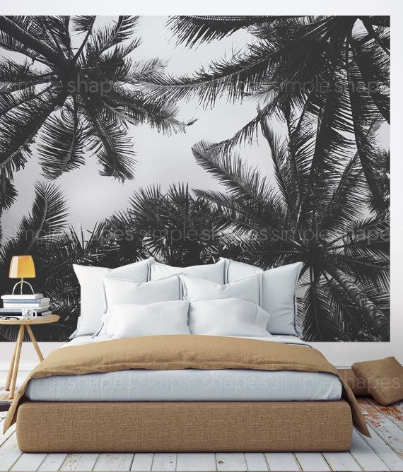 Palm Tree Photography in an oversize sticker poster. Just peel off the sheets and apply to your wall to get this stunning look! Our Peel and Stick products are repositionable and will not damage your walls when you remove them.  [Size] 10w x 8h (120w x 96h) (304 CM wide x 243 CM tall)   [Whats Included] 5 sheets of 24w x 96h peel-n-stick fabric wallpaper   Please Note: Our standard wallpaper is slightly translucent. We recommend using our wallpaper over a white or light colored surface. If…