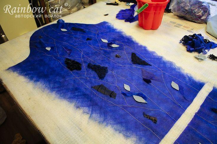 Мастер-класс: создание лоскутной мозаики в технике нуновойлок - Ярмарка Мастеров - ручная работа, handmade