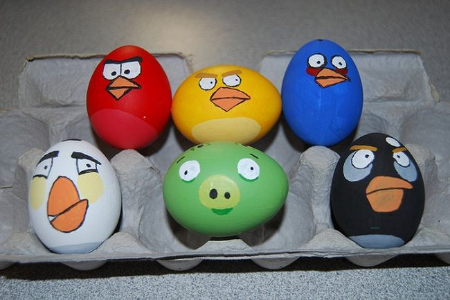 Collection of Fun Geeky Easter Egg Designs — GeekTyrantIdeas, Birds Eggs, Birds Easter, Angry Eggs, Easter Eggs, Kids, Angry Birds, Crafts, Angrybirds