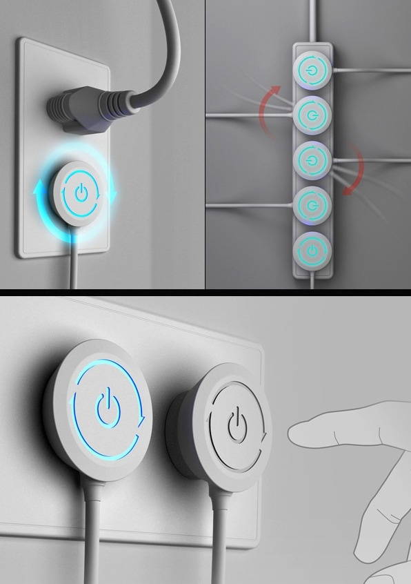 The age-old concern of knotted wires, messy plugs on a power socket get a fresh new solution. The Rotate Plug design allows users to plug appliances effortlessly, without the worry of electric cords getting tangled. The design of the power switch on the plug is environment-friendly and functional.   Rotate Plug is a 2013 iF Design award – concept design entry.  Designers: Hao-Siang Min, Fu-Yuan Hsieh & Jung-Cheng Liu
