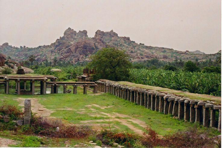 Photograph taken by self (Dineshkannambadi) at Hampi, Karnataka state, India in June 2004. (An ancient market place)