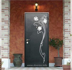Металлическая дверь   ковка.