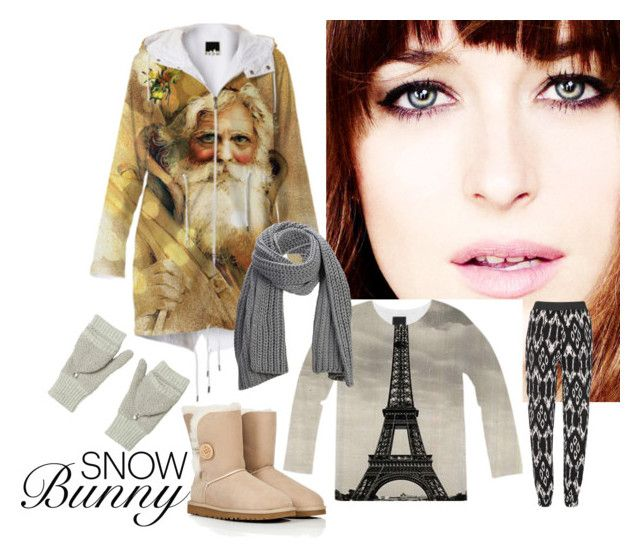 """""""Snow Bunny (Ana Steele)"""" by stine1online ❤ liked on Polyvore featuring UGG Australia, Rebecca Taylor and SELECTED"""