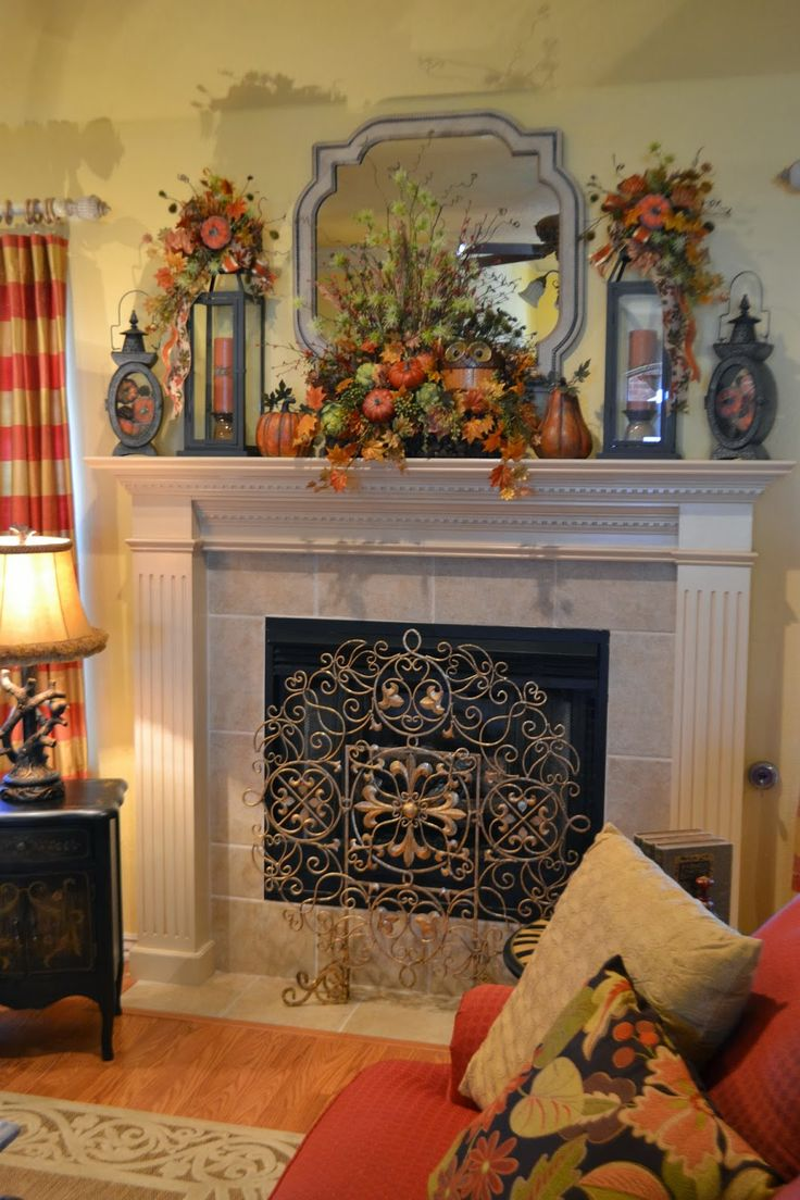 Best fall mantle decorating ideas images on pinterest
