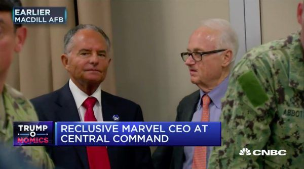 Video: Marvel Chairman Ike Perlmutter Caught On Camera Again At US Central Command HQ With Donald Trump