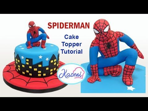 How to make Spiderman Cake Topper /Cómo hacer a Spiderman para tortas
