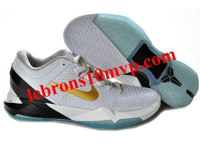 Nike Zoom Kobe 7(VII) Shoes White/Black/Gold