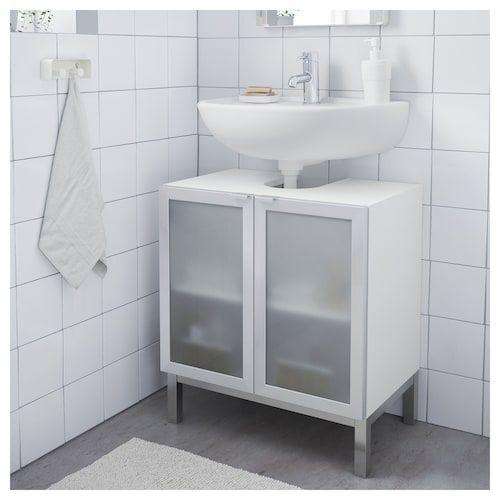 Ikea Lillangen Element Bas Lavabo 2 Portes Meuble Sous Lavabo Decoration Petite Salle De Bain Petit Meuble Pour Salle De Bains