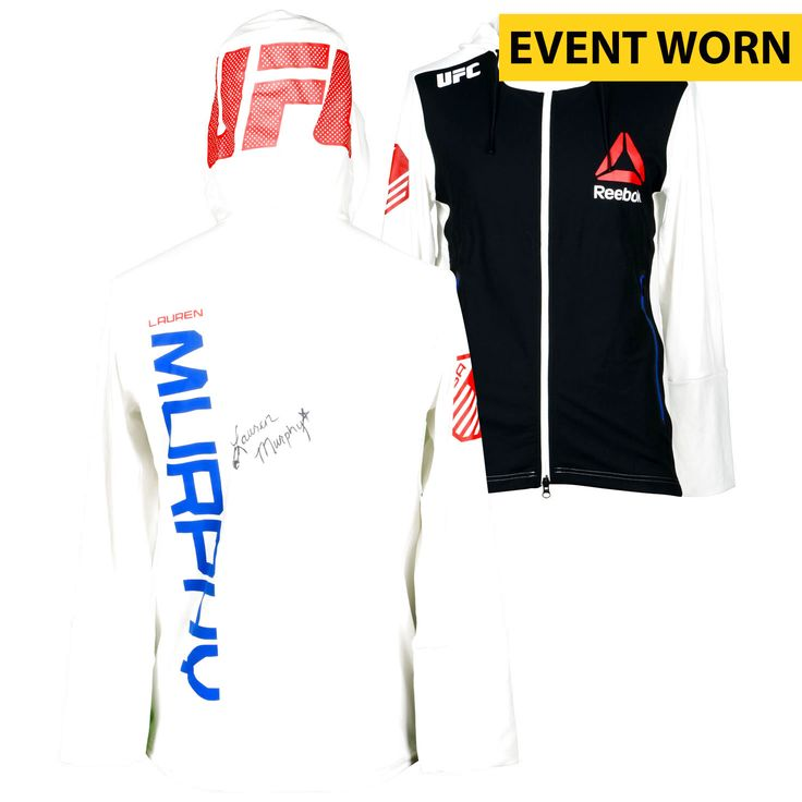 Lauren Murphy Ultimate Fighting Championship Fanatics Authentic Autographed UFC Fight Night: Cowboy vs. Cowboy Event-Worn Walkout Hoodie - Defeated Kelly Faszholz via Third Round TKO - $239.99