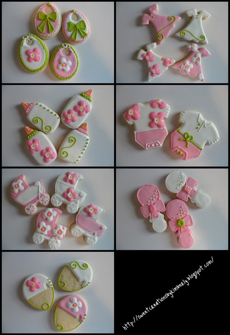 themed baby showers baby girl cookies and baby shower cookies