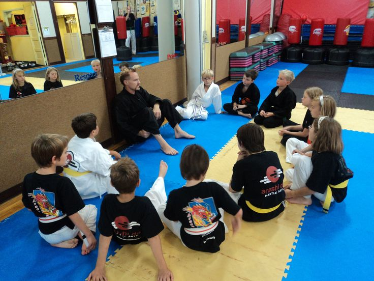 Mat Chats are an element of the Karate curriculum.