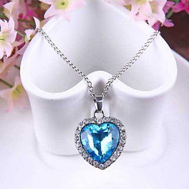 cuore blu del mare ciondolo collana di cristallo titanica con la catena – EUR € 1.31