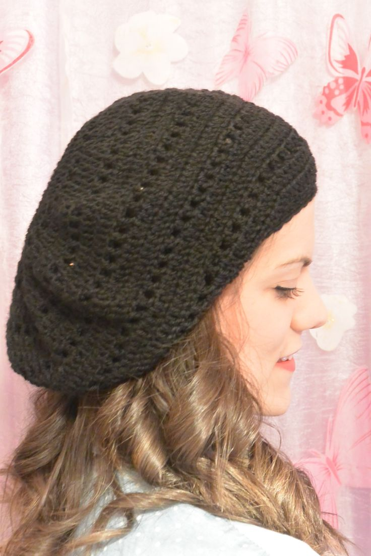 a romatic slouchy beanie perfect for spring days