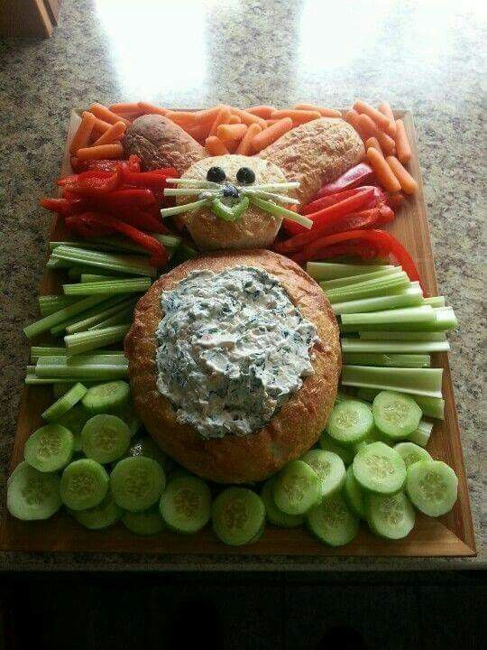 Spinach dip & veggies