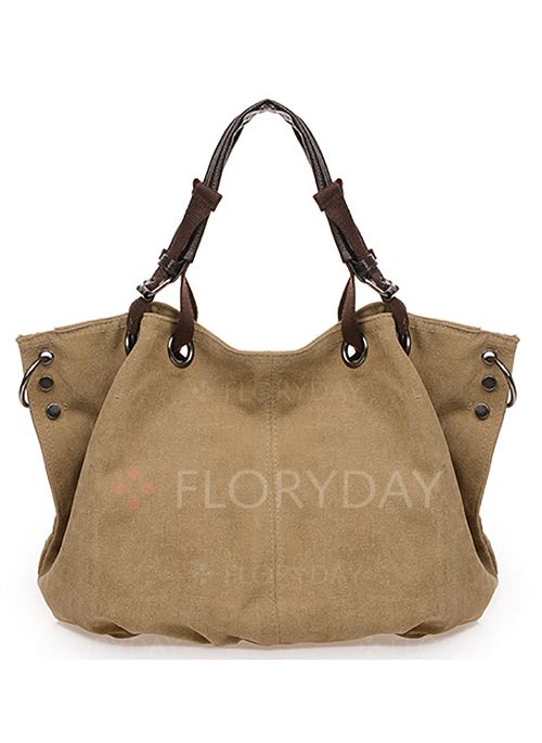 Bags - $25.85 - Totes Fashion Canvas Coffee Khaki Sky Blue Brown Large Bags (1825111604)