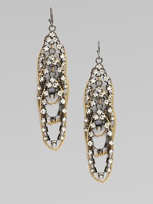 ABS by Allen Schwartz Jewelry  Shimmer Chain Drop Earrings