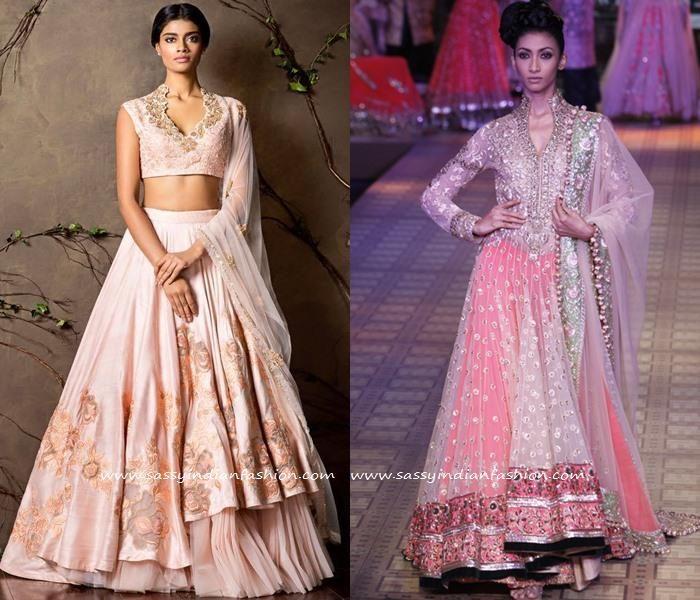 High low Pink Lehenga Designs