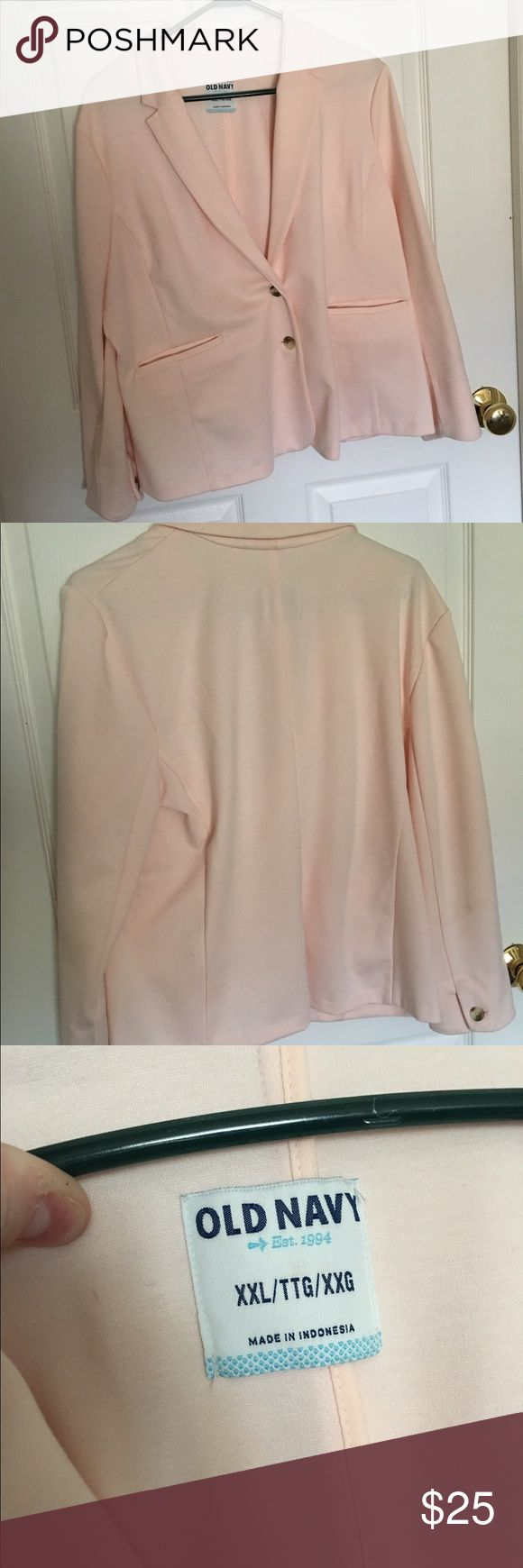 Light pink blazer Super soft light pink blazer. Jersey like material. Very stretchy and comfortable. Worn once. Make a reasonable offer!! Old Navy Jackets & Coats Blazers