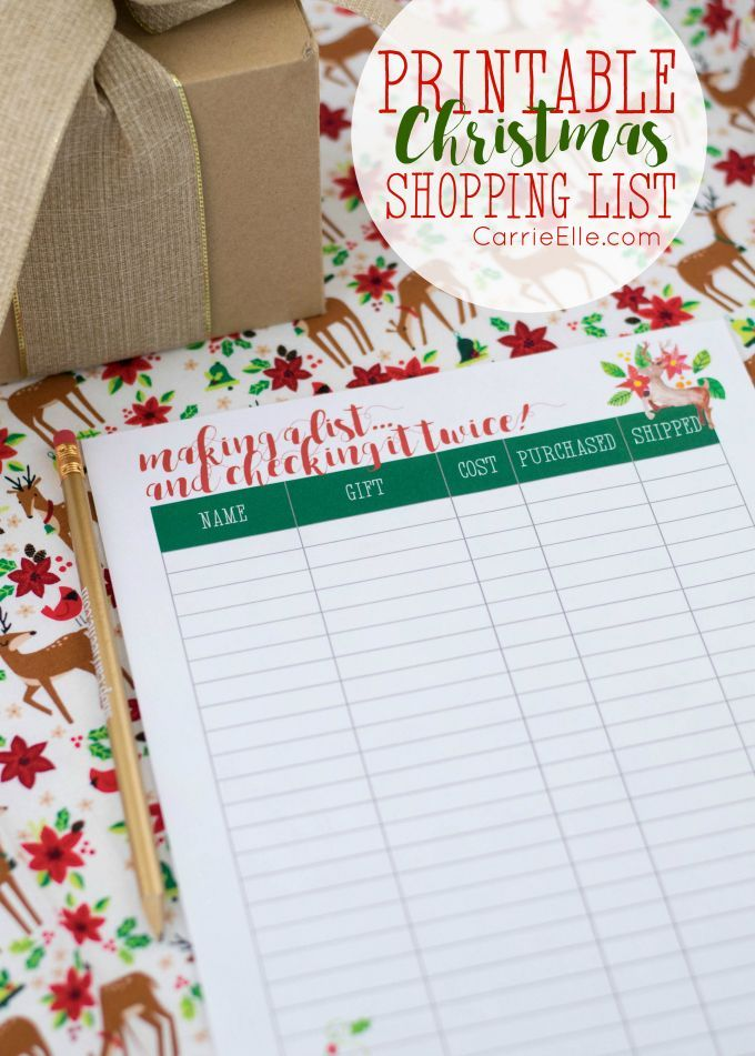 Printable Christmas Shopping List - Be oganized and intentional with your Christmas shopping this year! This list will help you stay on-track. #ad
