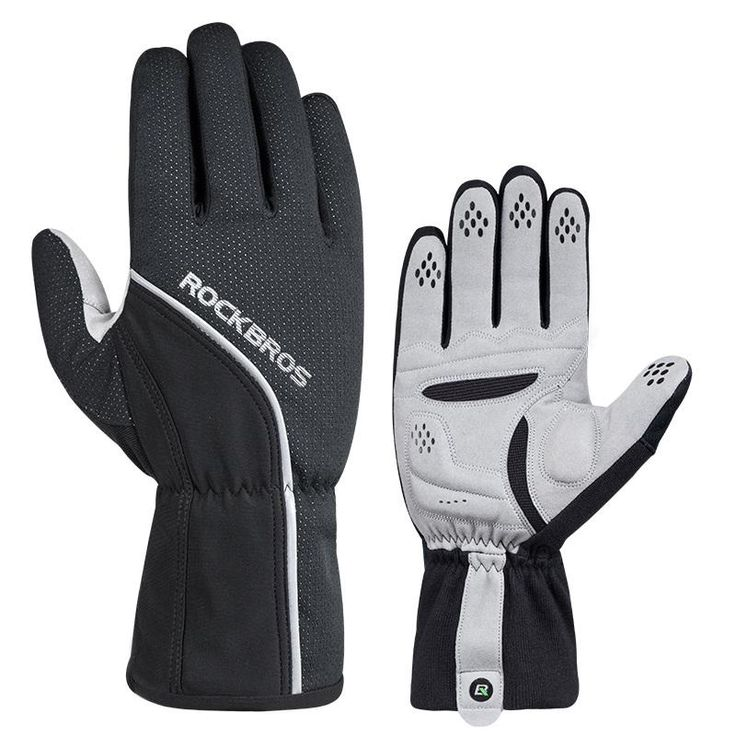 ROCKBROS Cycling Gloves Full Finger Windproof Thermal Bike Bicycle Gloves Anti-slip Warm Bicycle Hand Guantes Mtb