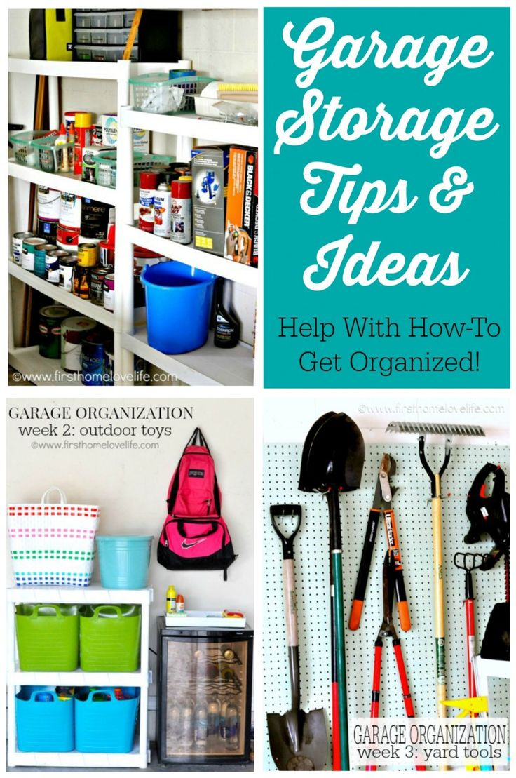 Tackle the garage with a little help. Garage Storage Tips and Ideas - How To Get Organized.