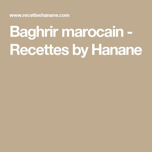 Baghrir marocain - Recettes by Hanane