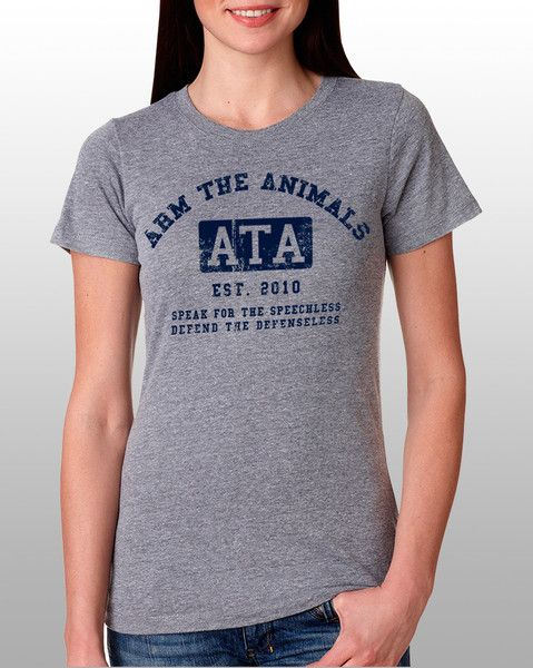 Just bought this killer tee. Women's | ATA College Logo | Fashion Crew Arm The Animals Clothing #armtheanimals www.armtheanimals.com