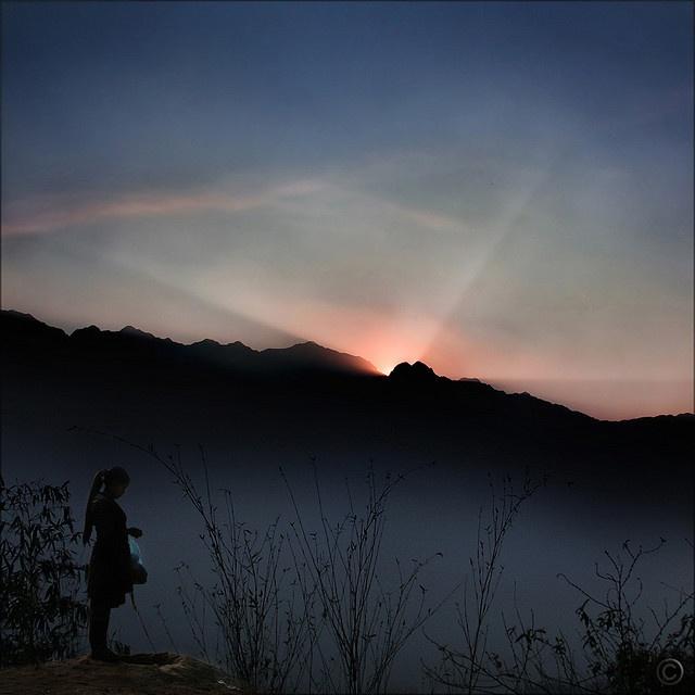 Sunset over Fansipan
