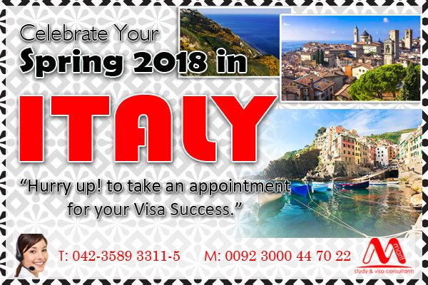 Apply Italy Visit visa through our experts, we are the best visit visa consultant in DHA Lahore, meet our experts for visa profile preparation, call us for more details, Landline: 042-3589 3311-5 (5 Lines) Mobile: 0300-0447022 www.marifinternational.com Building No.5, 2nd floor, L-Block, Commercial Area, Phase-1, DHA Lahore, Pakistan #visit #europe #italy #schengen #experts #visa #profile