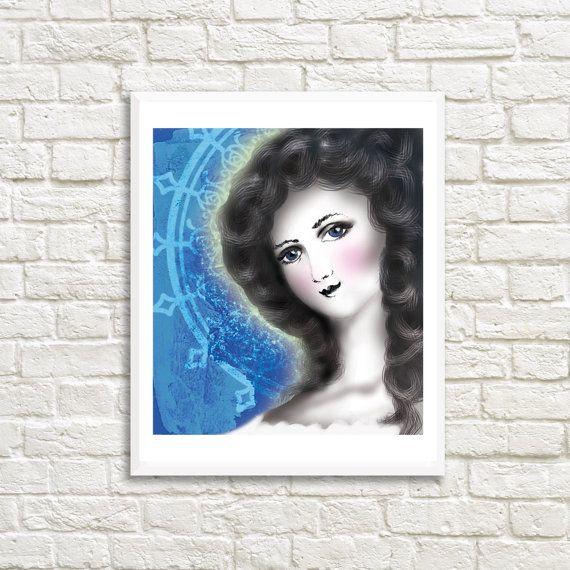 Gibson Girl Printable Art Print High by LittleLotusFlowers on Etsy