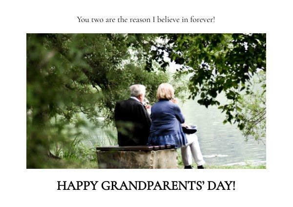 Happy Grandparents Day Card Template Happy Grandparents Day Grandparents Day Cards Grandparents Day