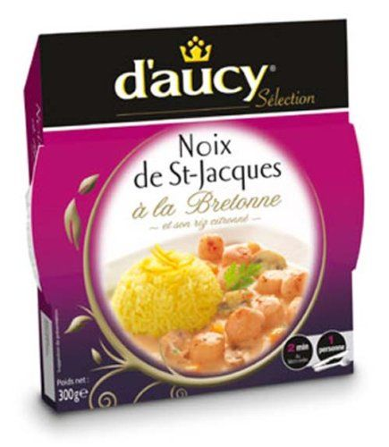Scallops with Rice Microwaveable dish Heat and eat D'aucy Scallops Brittany Microwavable Dish - 10.58 Oz