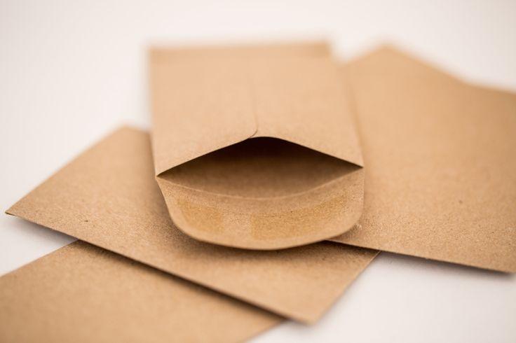 Small Kraft Coin Envelopes - gift card holder or business card holder
