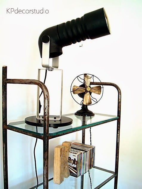 Lámpara de mesa retro original ** Retro table lamp  BUY IT IN: www.tiendavintageonline.com