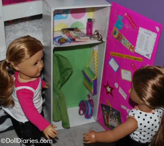How to make a doll sized school locker