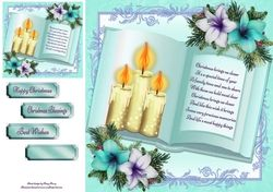 Beautiful Cream Candles Open Book 8x8 on Craftsuprint - View Now!