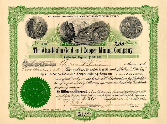 certificate alta