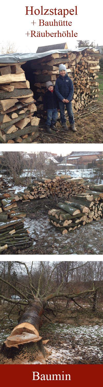 Nur #Holzstapel kann jeder. Mach mehr draus!  Die perfekte #Räuberhöhle für die Kids. Oder als #Bauhütte beim #Hausbau. Oder als Lager auf der #Streuobstwiese.