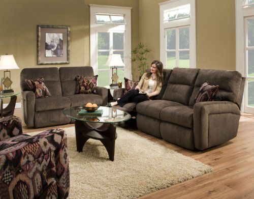 Southern Motion Savannah 3 Pc.   Dual Reclining Sofa W/2 Pillows, Loveseat