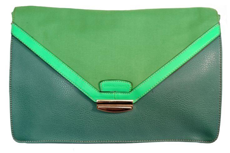 David Jones Clutch Bag / Green / Neon Green