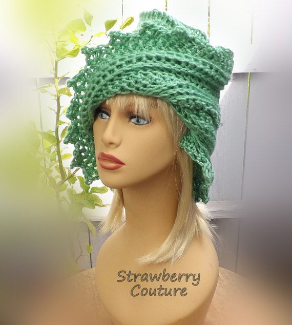 50th Birthday Gift for Women Womens Crochet Hat Womens Hat Trendy Sage Green Hat LAUREN Crochet Beanie Hat Winter Hat by strawberrycouture by #strawberrycouture on #Etsy